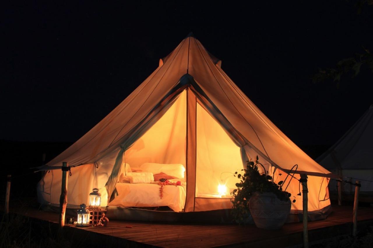 Mini safari tent Night shot