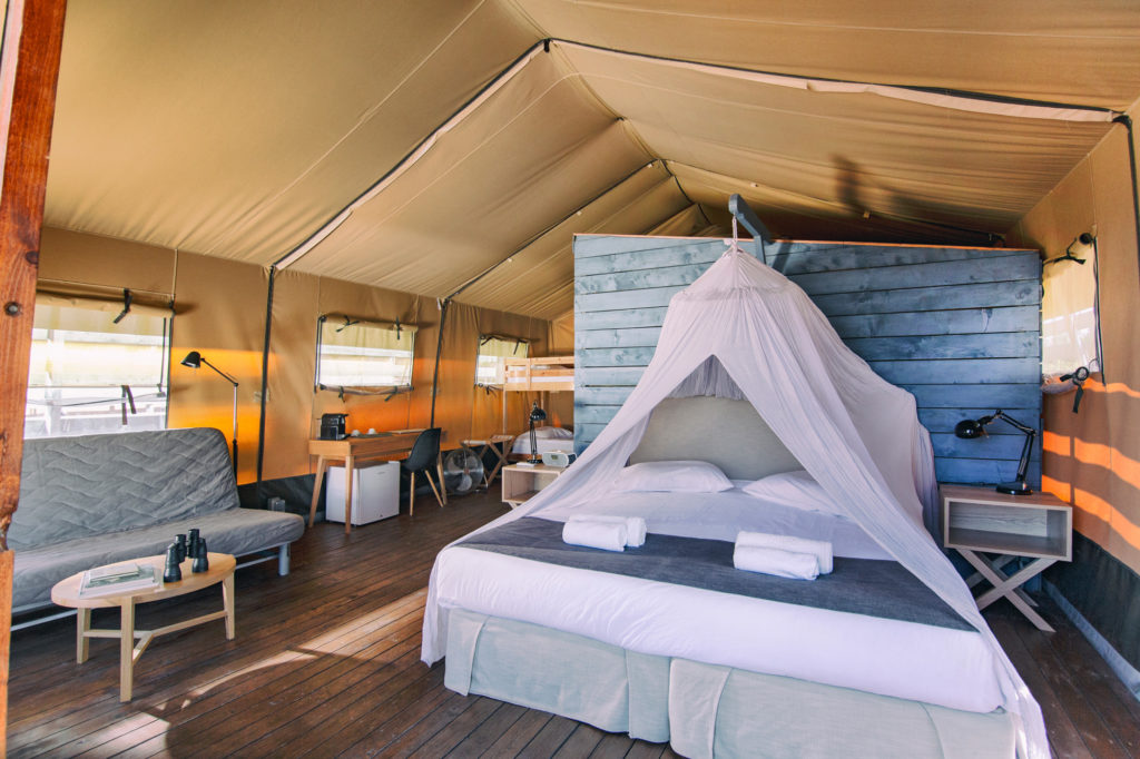 XL luxury safari tent interior photo