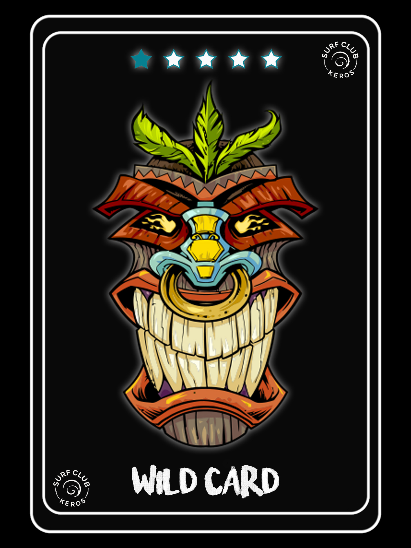 WILD CARDS BANNER with wild tiki mask